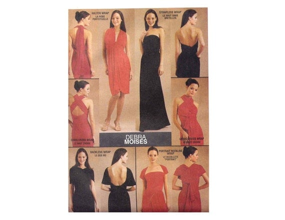 Debra Moises Wrap Dress Sewing Pattern New Infinite Dress McCalls 2781 Bust 29 30 31  34 36 38 40