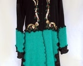 SALE / See Details Below / Upcycled Holiday Sweater Coat / Angora Silk Lambswool / One of a Kind
