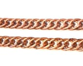 3 feet -  LARGE Vintage Chain Double Curb Flat Matte Copper - 13 x 20mm - Chunky Chain Necklace