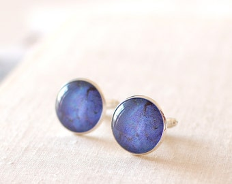 Lapis Lazuli Cufflinks, Blue Lapis Cuff Links for Men. Wedding Cufflinks.  Men Jewelery.