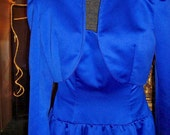 Cobalt Blue Victor Costa Designer Dress w Bolero Jacket