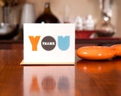 Big Fat Thanks - Set of 10 Chunky Typography Thank You Cards on 100% Recycled Paper