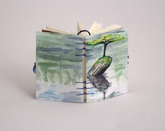 Large Blank Book Pendant-  Solitary Tree