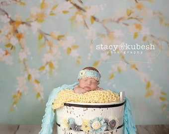 Baby Blue Peep - light blue, silver and yellow sash