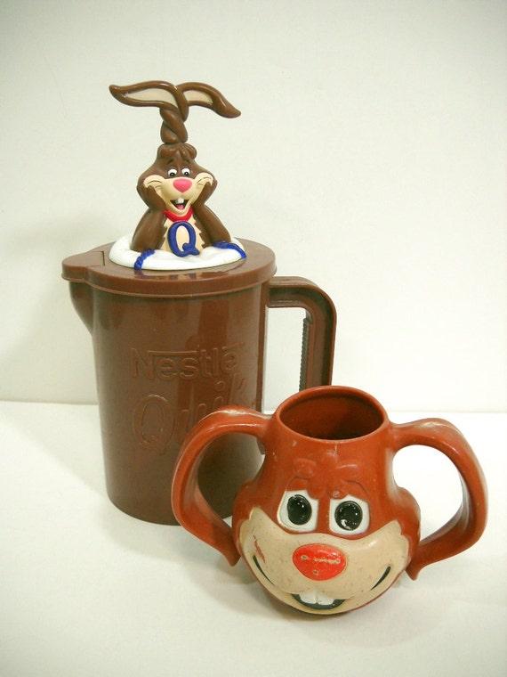 Vintage Nestle Quik Rabbit Mixing Pitcher Bunny Mixer