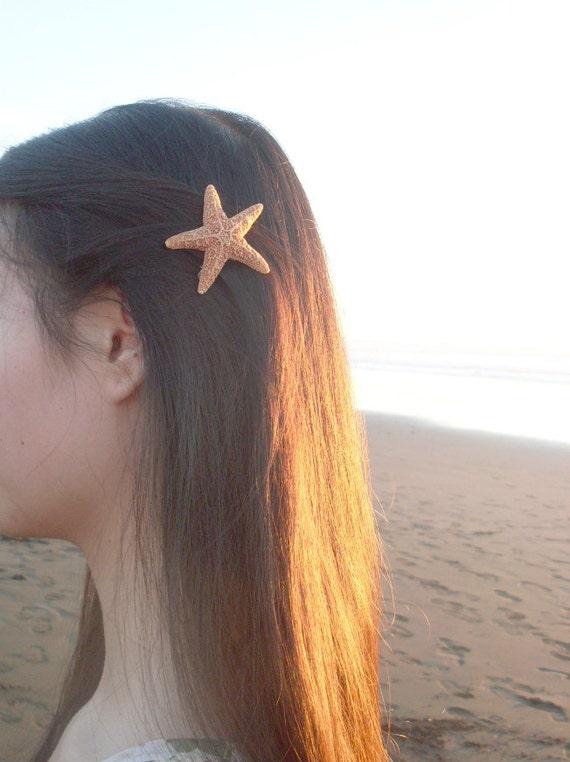 Sugar Starfish Barrette Starfish Hair Clip Starfish Hair Accessories Mermaid Hair Accessories Mermaid Hair Clip Nautical Mermaid Costume