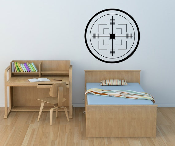 items similar to vinyl wall decal sticker missile target 1109m on etsy. Black Bedroom Furniture Sets. Home Design Ideas