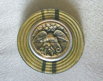 1800s Picture Button and Early 1900s Celluloid Button Pin