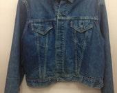 Original 1960s Big E Levis Troy Mills Blanket Lined Denim Jacket