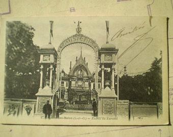 Enghien les Bains - Early 1900s - Antique French Postcard - Entree du Kursaal