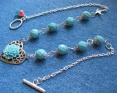 SET - TURQUOISE NECKLACE and Matching Earrings