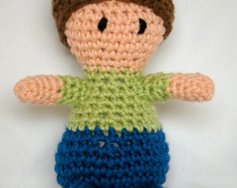 CUSTOM Amigurumi Baby Doll Hand Crocheted Little Boy