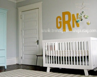 """26"""" Modern Block Monogram- Wooden Monogram Letters- a fresh, bold design for your home, child's room, or nursery- unpainted"""