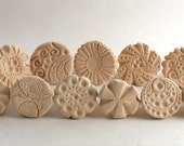 """Clay Texture Stamps, Gift Set, Choose ONE or TWO, """"You Spin Me Round"""", Handcrafted Tool, for Pottery, Ceramics, Polymer Clay"""