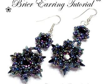 PDF beading tutorial pattern - Brier earrings - 8mm - 1088 - Swarovski Chatons