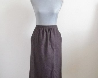 Vintage Burgundy Tweed Skirt