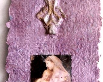 Christian Christmas Art, Festive Home Decor, Inspirational Gift, Affordable Art Work, Feminine Art, Christian Decor, Pink Religious Gift