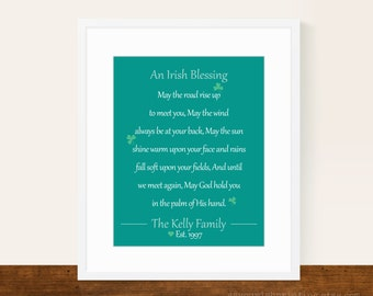 Irish Blessing Personalized 8x10 Print