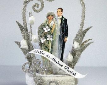 1920's Deco Wedding Cake Topper