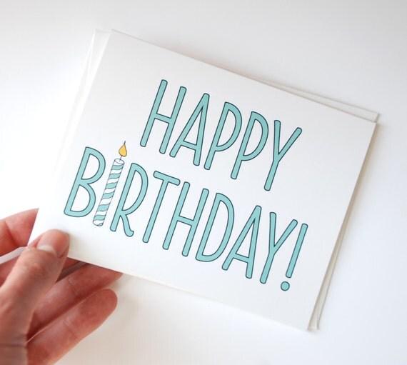 Birthday Card Simple Birthday Card Happy Birthday Card
