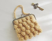 Bag Crochet pattern Zoe bubble PDF - purse clutch puff crochet - recipe for any purse frame size - Instant Download