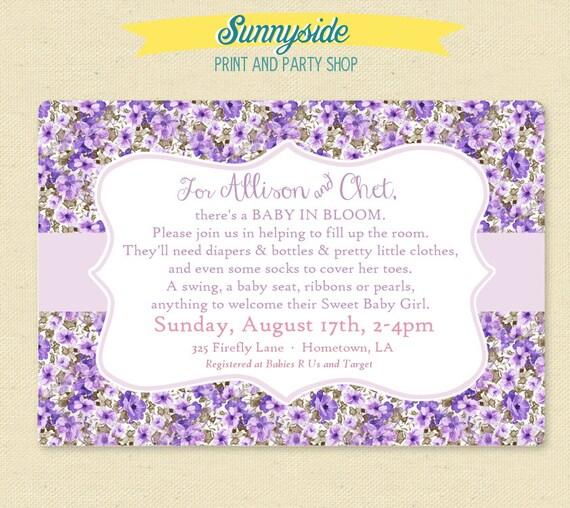Girl Baby Shower Poems: Baby Girl Poem Shower Invitation Shabby By Sunnysideprintparty