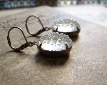 Sugar Jewel Earrings / Frosted Glamour / White Wedding /