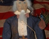 Primitive Folk Uncle Sam Americana July the 4th Doll