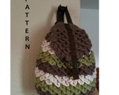 INSTANT DOWNLOAD Crochet Crocodile Backpack - Pattern
