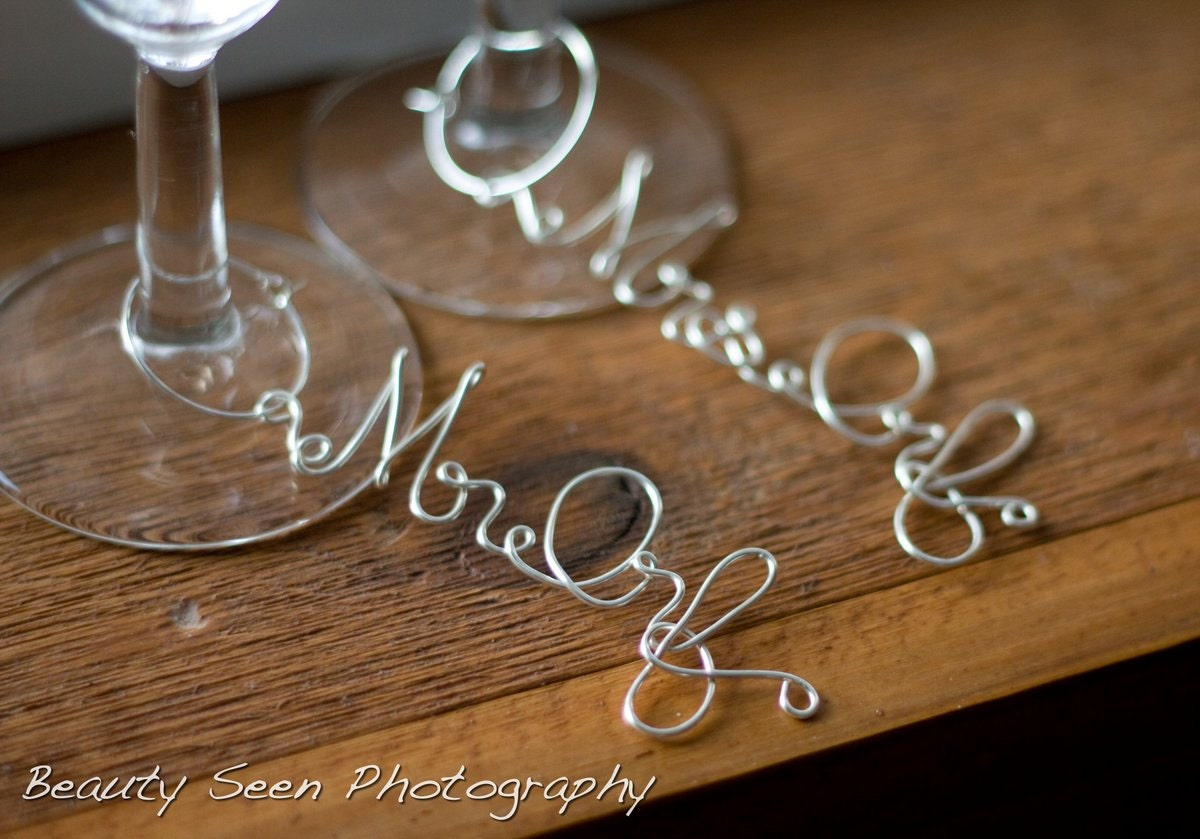 personalized wine glass charms unique by homesandweddings