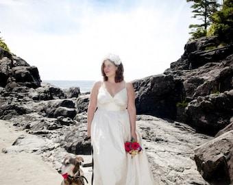Plus Size Wedding Dress, Modern Wedding Dress, Silk Wedding Gown, Destination Wedding Dress, Simple Wedding Dress, Rustic Gown, V-neck Dress