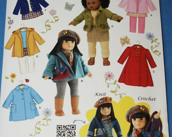 New Simplicity 18' doll Clothes Pattern 3551