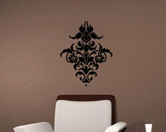 "Damask Pattern 1 Vinyl Wall Decal 18""W x22""H 22252"