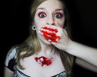 Bloody Human Tooth - Necklace