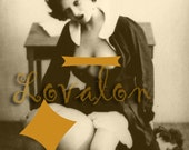 MATURE... Cheval de Fille... Vintage Nude Photo... Digital Download Erotic Image by Lovalon