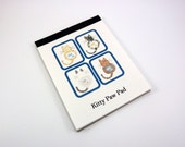 On Sale - Kitty Paw Pad - Handmade Cat Notepad