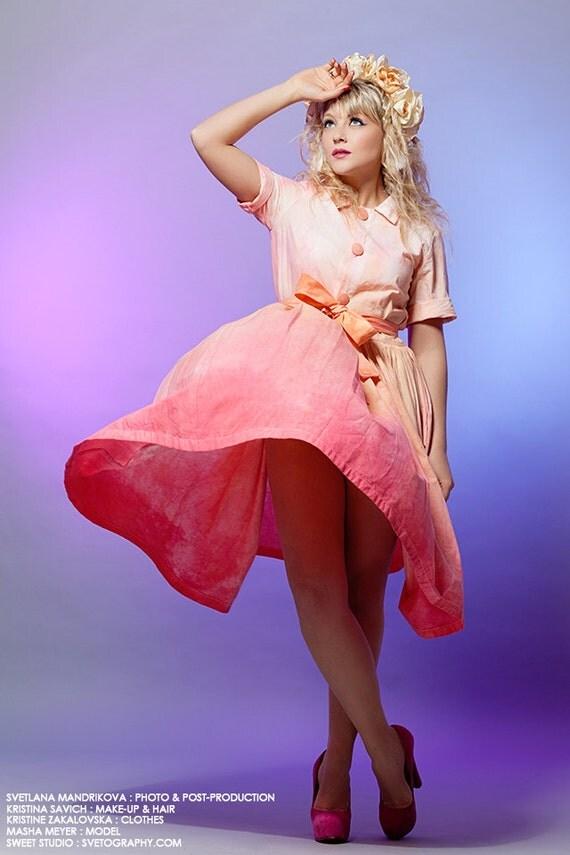 50's blogger dress - hand dyed dress/murMur