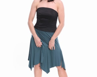 Training skirt with slits - teal and custom colors