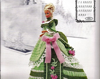 The Victorian Lady Centennial Collection Miss March 1993 Fashion Doll  Crochet Pattern  Annies Calendar Bed Doll Society 7603