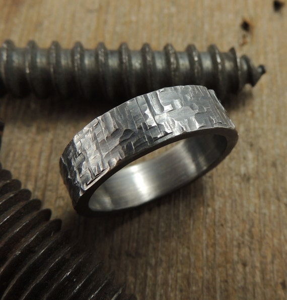 handmade mens rings 6mm mens wedding band eco friendly by pointnopointstudio 3047
