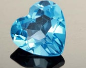 Swiss Blue Heart Shaped Topaz, Loose Gemstone, Jewelry Making, Setting, Collectible, 1.90 carats, SALE