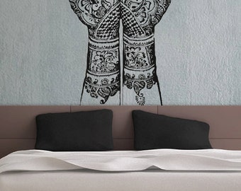 Henna Hands vinyl wall decal sticker art A865