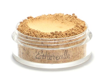 "Vegan Mineral Foundation Powder - Delicate - ""Custard"" (light-medium shade with neutral undertone) Large Net wt 7g Jar"