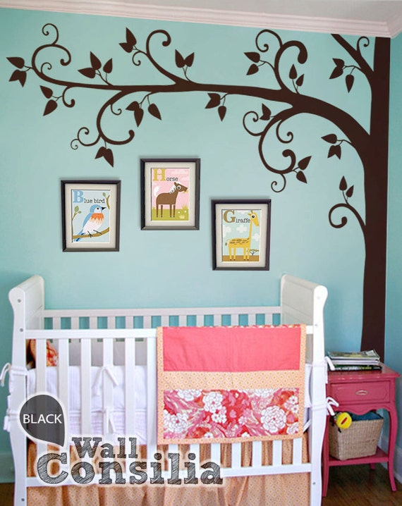 baum wall decal aufkleber kinderzimmer von wallconsilia auf etsy. Black Bedroom Furniture Sets. Home Design Ideas