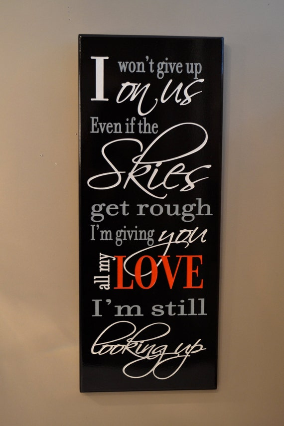 Items similar to personalized love quote sign carved