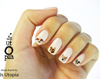 Dog Faces Nail Sticker