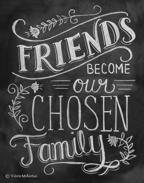 Friendship Print - Friendship Gift - Friend Quote 11x14 Print - Hand Lettered Print - Gift for Best Friend - Chalkboard Art - Chalk Art