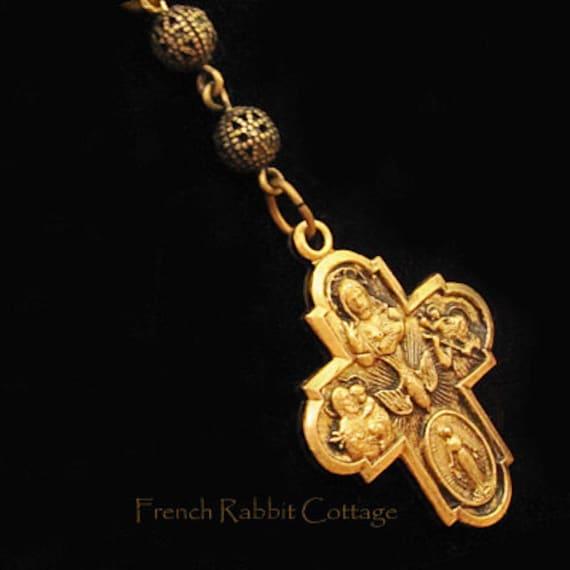 catholic cross necklace pendant religious jewelry catholic