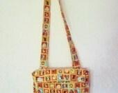 Cross Body Bag. Shoulder Bag. Purse.  Fits Mini Lap Top Or Tablet Devices.  Handmade.  Uk Seller.  Dog Lovers Bag
