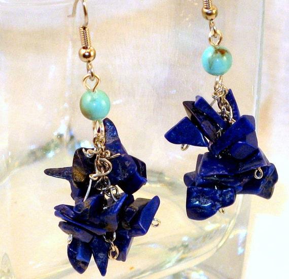 Blue Lapis & Turquoise Earrings